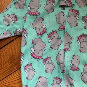 Carters footed pajamas 3t